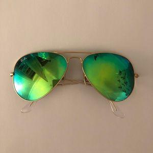 Ray-Ban Aviator Green Flash Lenses
